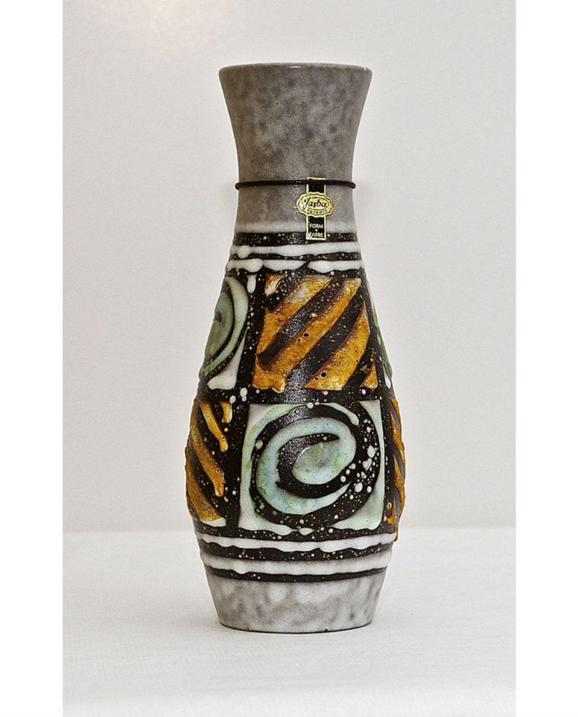 Florero cerámica alemana tipo fat lava
