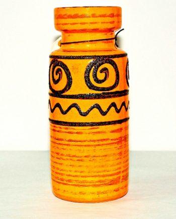 Florero de cerámica alemana naranja
