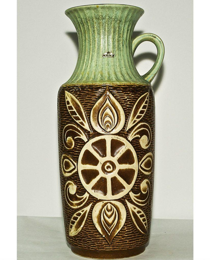 Jarrón de cerámica XL alemán