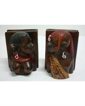 Sujetalibros vintage africano