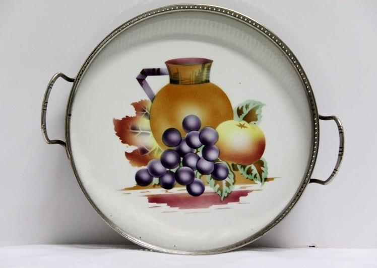 Bandeja de cerámica pintada