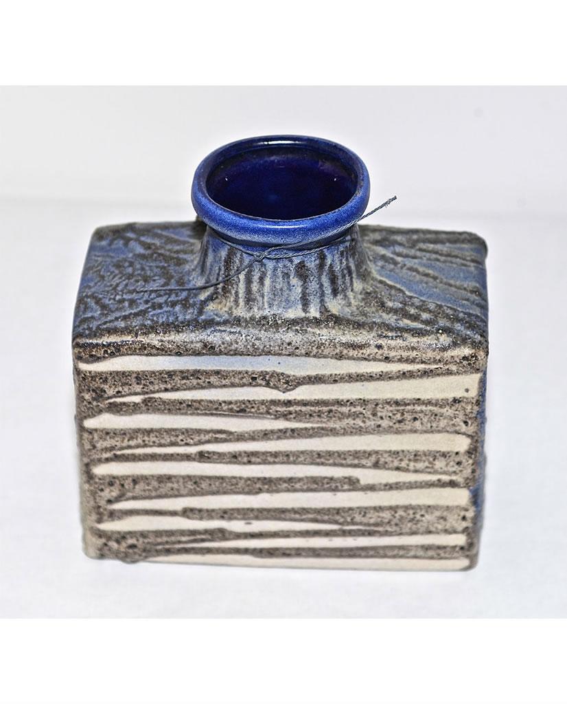 Florero vintage de cerámica alemana fat-lava