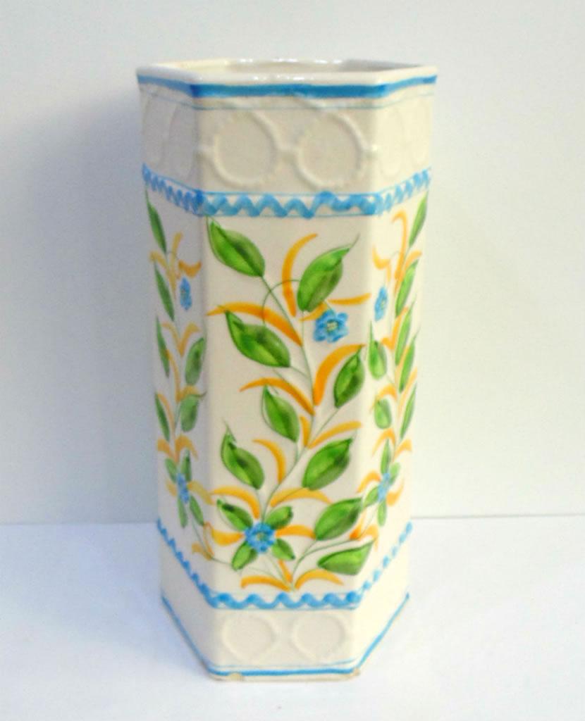 Paragüero vintage de cerámica de Manises