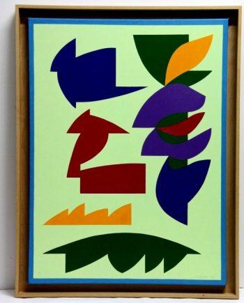 Pintura abstracta geométrica Andrés Serón