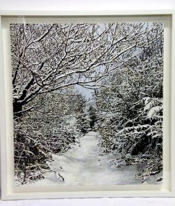 """Pintura Kate Bright """"paisaje nevado"""""""
