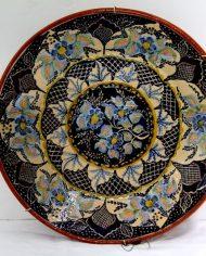 Impresionante plato portugués de cerámica esmaltada