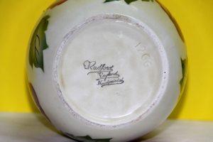 Jarrón cerámica inglesa, pintado a mano