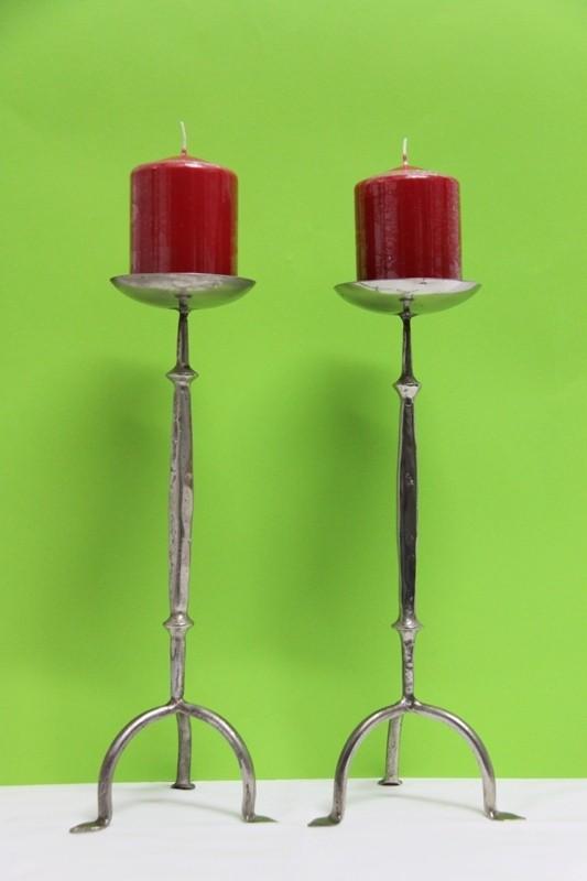 Forja. candelabro hierro con dos luces   galería 34   diseño y ...