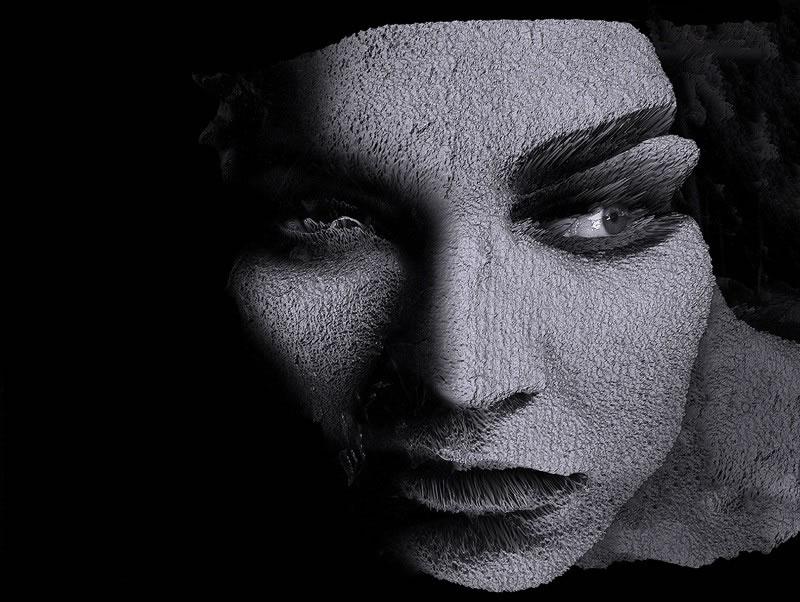 Fotografía rostro femenino de Manuel Maza