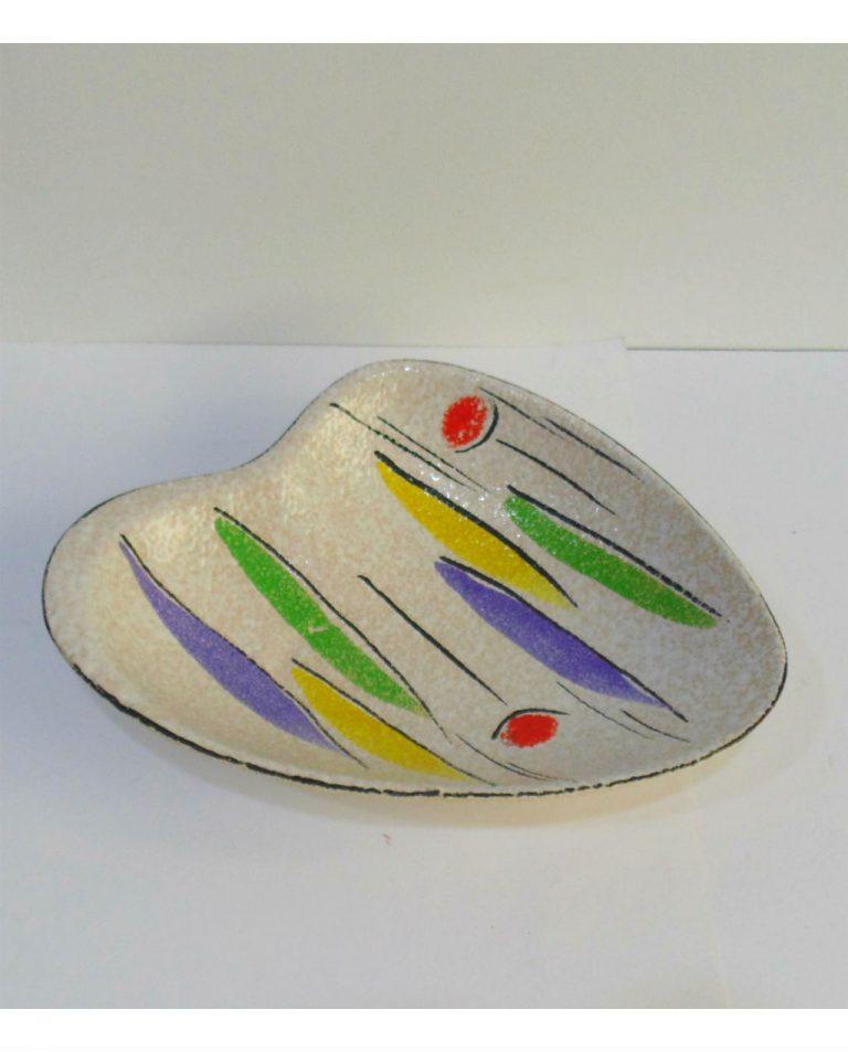 Bandeja vintage de cerámica alemana