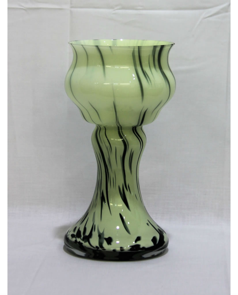Ikora Florero Vintage Verde Jaspeado