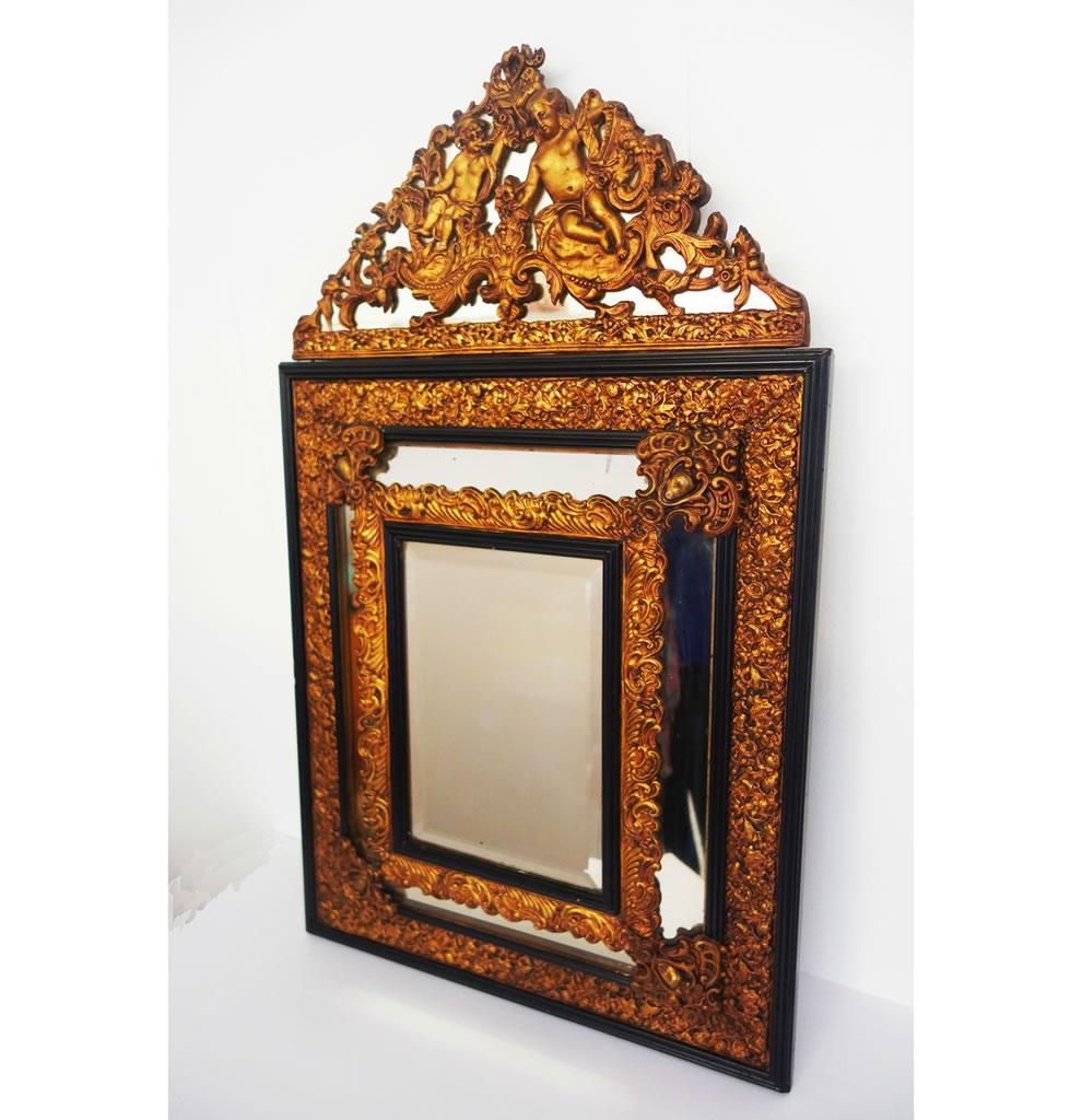 Espejo Alfonsino dorado - Espejos vintage originales - Espejos retro