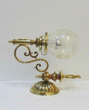 Apliques vintage de bronce, latón y cristal