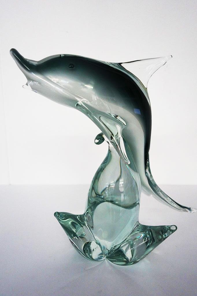 Delfín de cristal de Murano