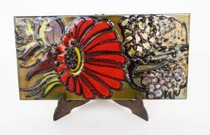 Placa de cerámica esmaltada alemana fat-lava