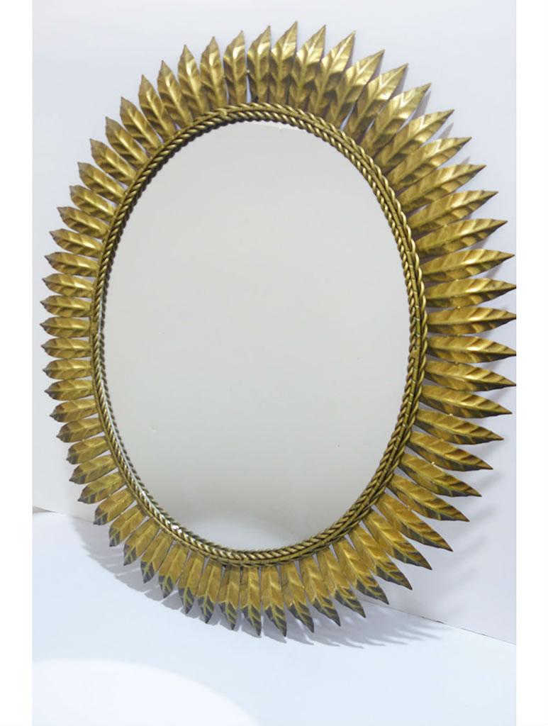 Espejo sol vintage dorado