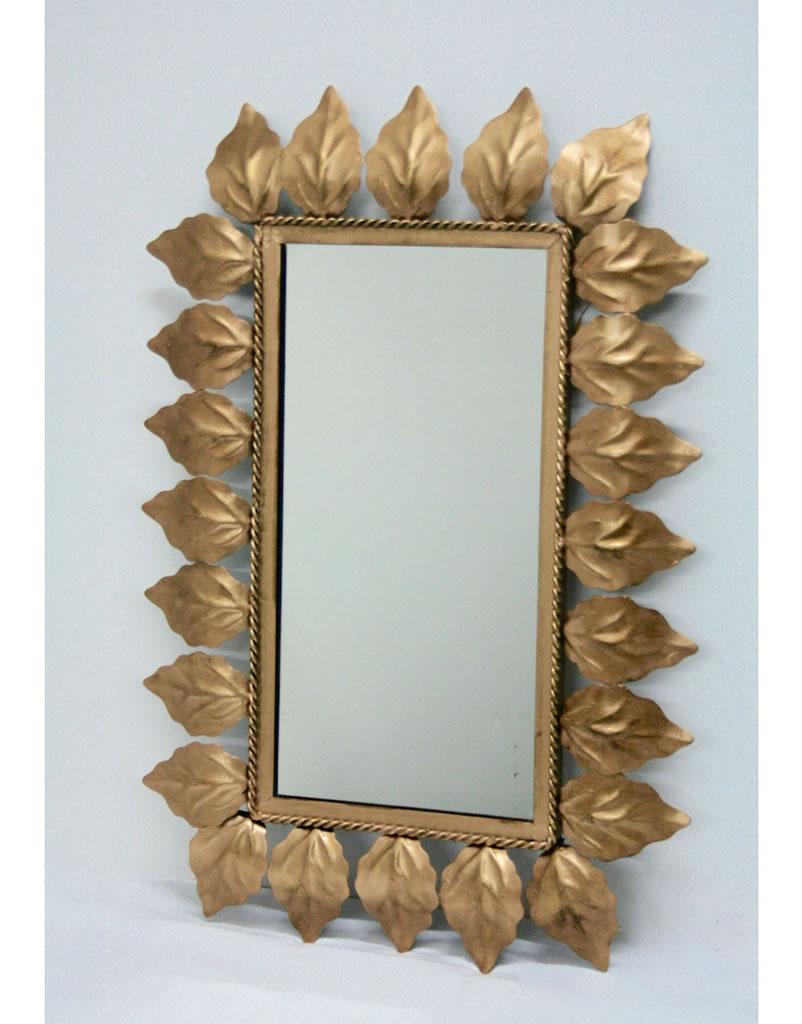 Espejo sol rectangular dorado espejo sol vintage - Espejo sol dorado ...