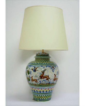 Lámpara de mesa de cerámica de la Cartuja de Sevilla