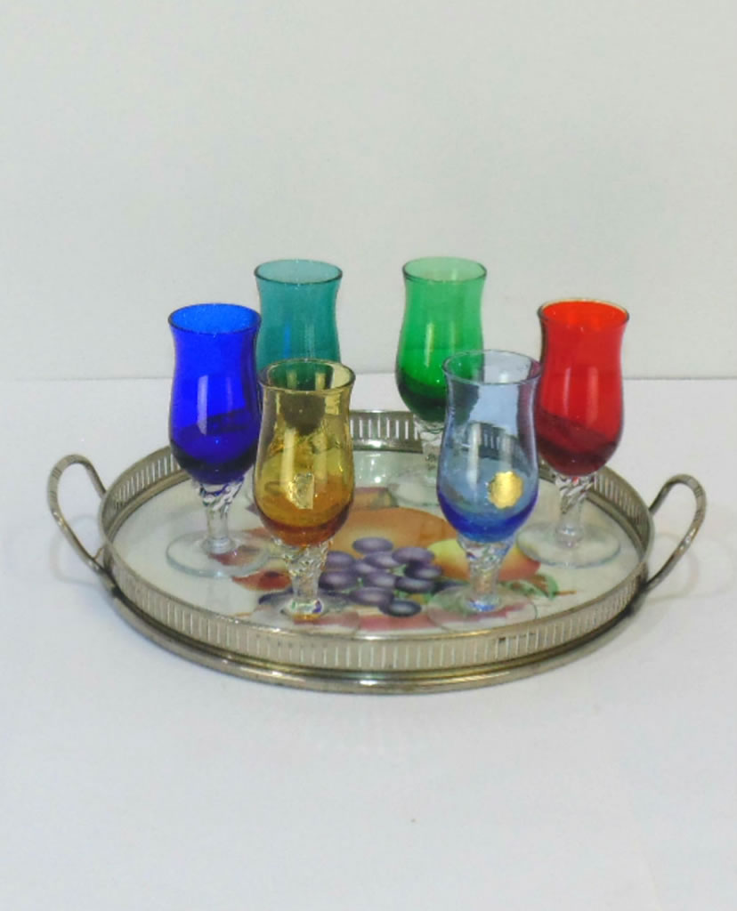Vasos de licor, cristal italiano