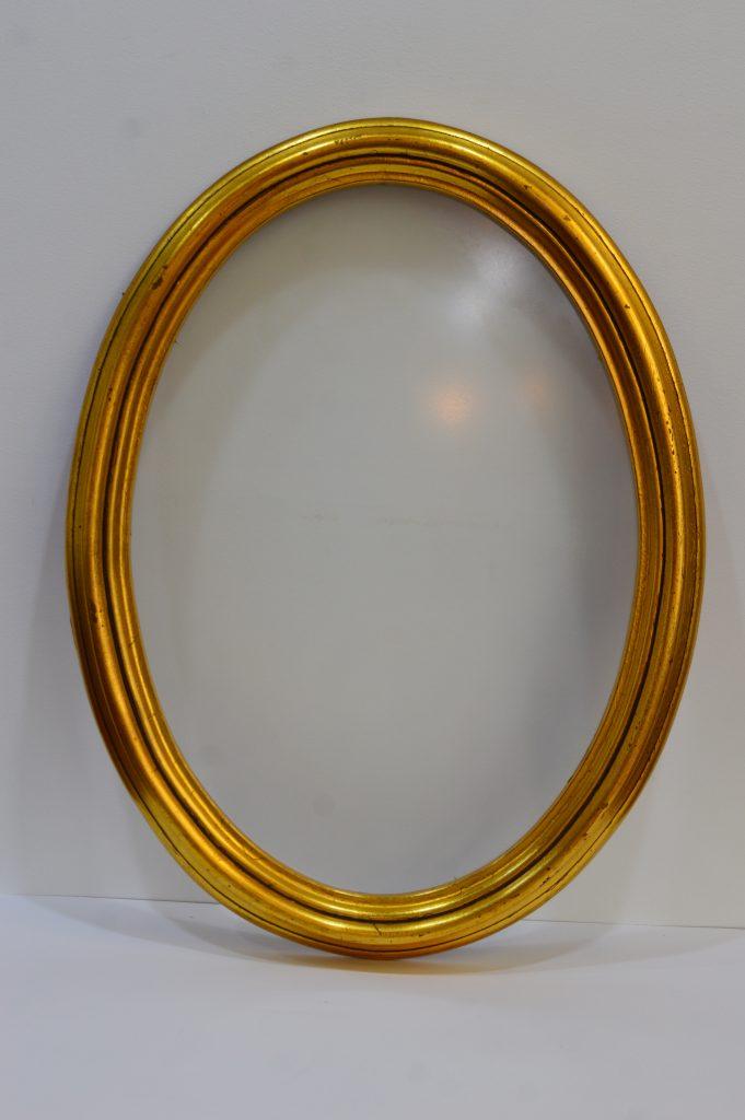 Marco ovalado pan de oro - Galería 34