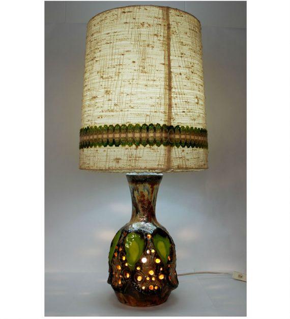 Lámpara de mesa de cerámica alemana