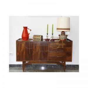 Aparador vintage de teca. Mueble antiguo
