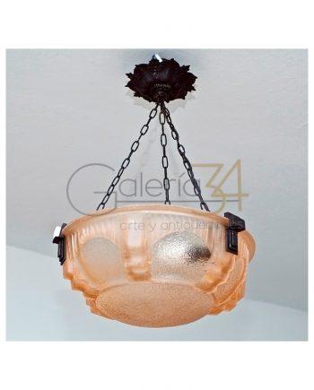 Lámpara de techo Art Decó de Muller Fréres