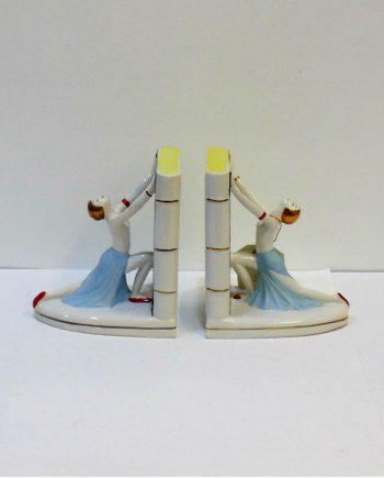 Sujetalibros vintage de porcelana francesa