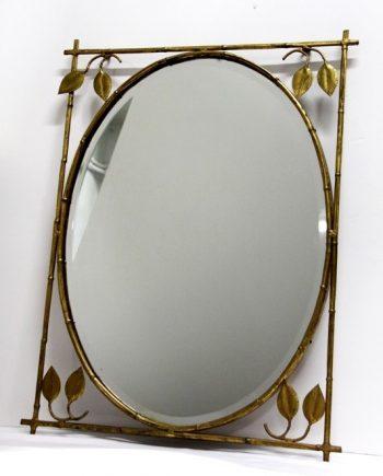 Espejo vintage dorado