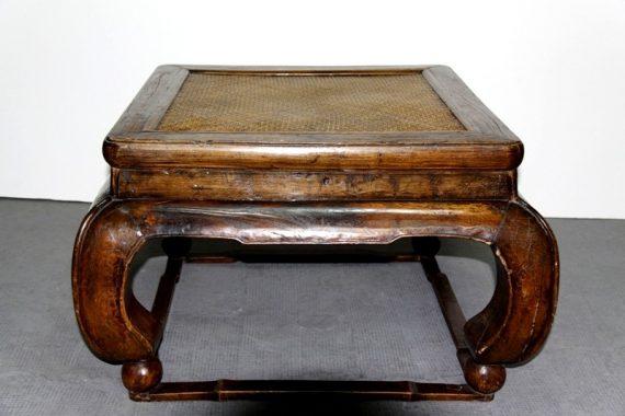 Mesa china vintage de madera olmo