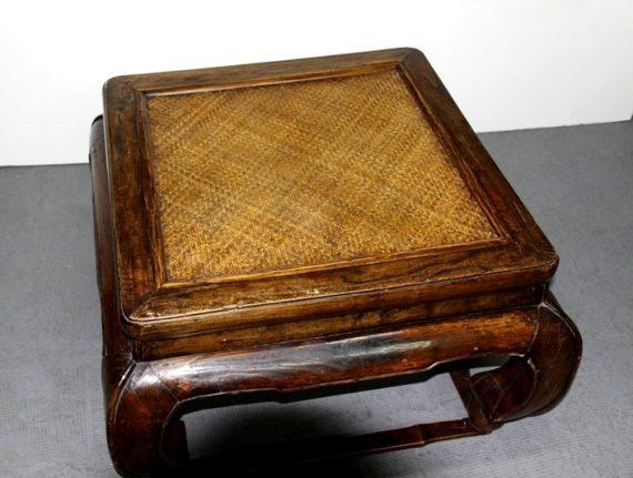 Mesa china cuadrangular de madera olmo
