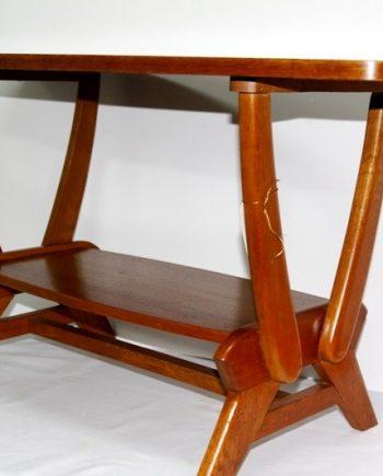 Mesa vintage francesa de madera de roble