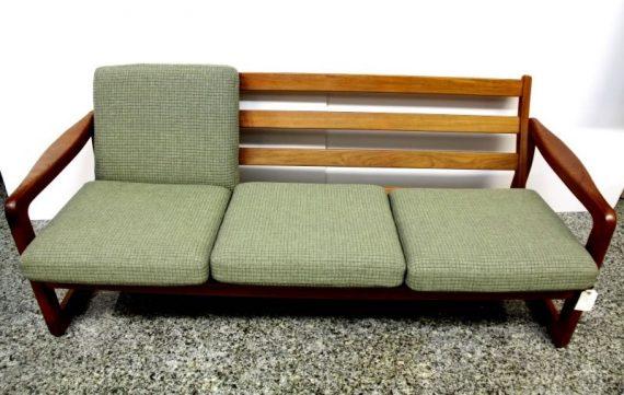 Sofa danés madera de teca, cojines algodón