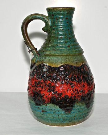 Jarra vintage de cerámica alemana fat-lava
