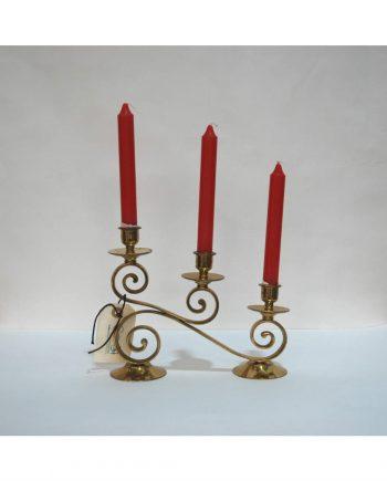 Candelabro de bronce vintage