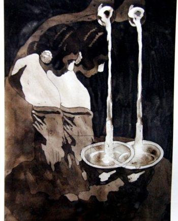 "Pintura Federico Guzman ""El alpechin español es puro de oliva"""