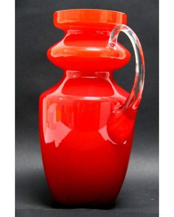 Jarra de cristal veneciano roja