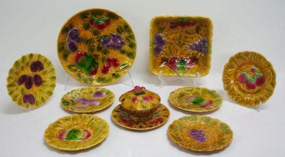 Plato grande de cerámica de Sarreguemines