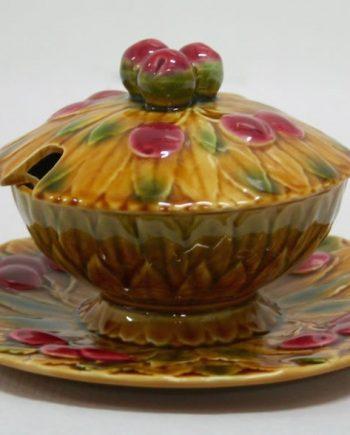 Azucarero de cerámica de Sarreguemines