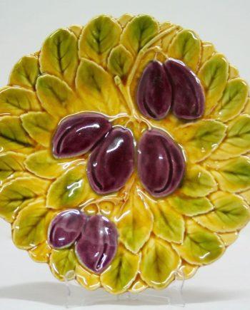 Plato de cerámica de Sarreguemines