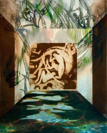 Cuadro de Florencio Maillo. Serie Hortus Conclusus