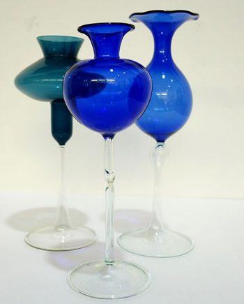 Floreros de cristal vintage Lauscha Glas