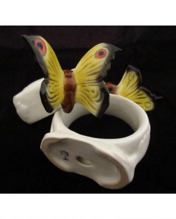 6 Servilleteros vintage de porcelana pintados a mano