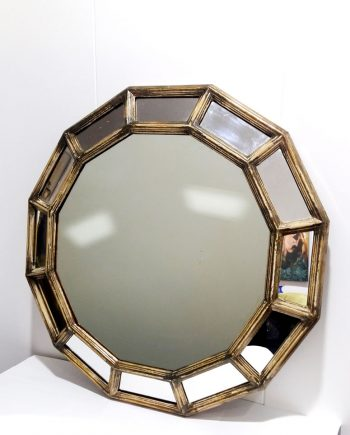 Espejo vintage tipo dodecaedro