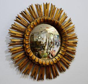 espejo sol madera convexo