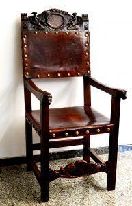 sillón de despacho del siglo xix antiguo