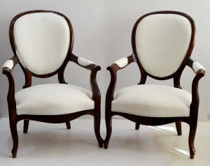 sillones isabelinos. mueble antiguo