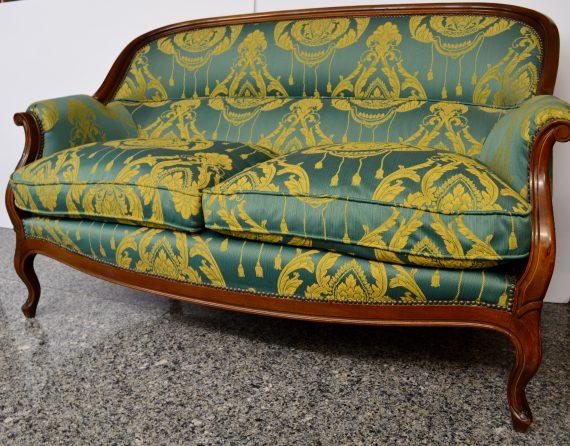 canapé sillón de dos plazas antiguo