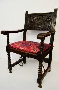 sillon renacentista - nogal antiguo