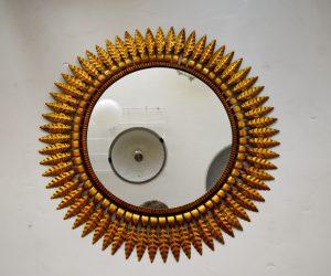 espejo sol vintage metal